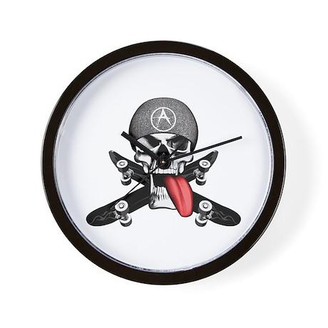 Skater Skull Wall Clock
