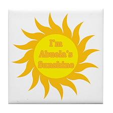 I'm Abuela's Sunshine Tile Coaster