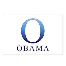 Blue Obama O Postcards (Package of 8)