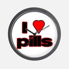 Cute I love pills Wall Clock