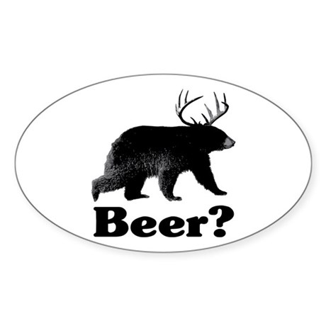Beer? Sticker (Oval 10 pk)