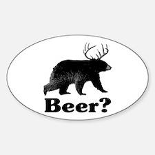 Beer? Sticker (Oval)