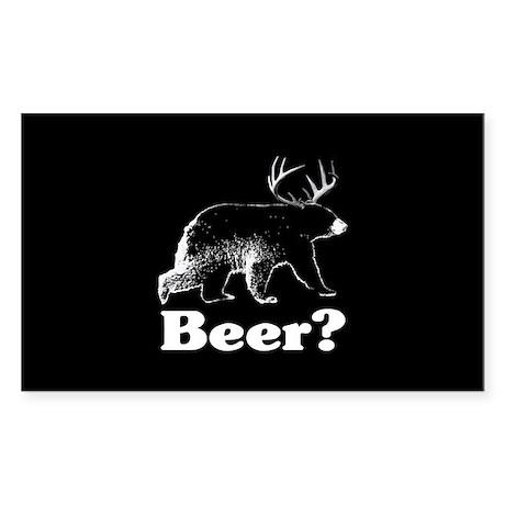 Beer? Sticker (Rectangle)