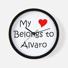 Funny Alvaro Wall Clock