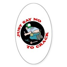 """Just Say No"" Oval Decal"