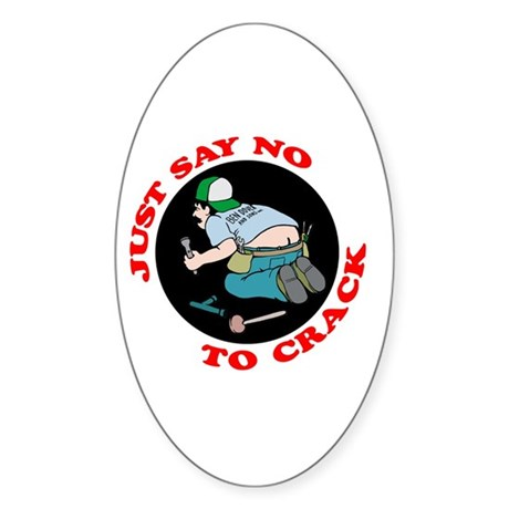 """""""Just Say No"""" Oval Sticker"""