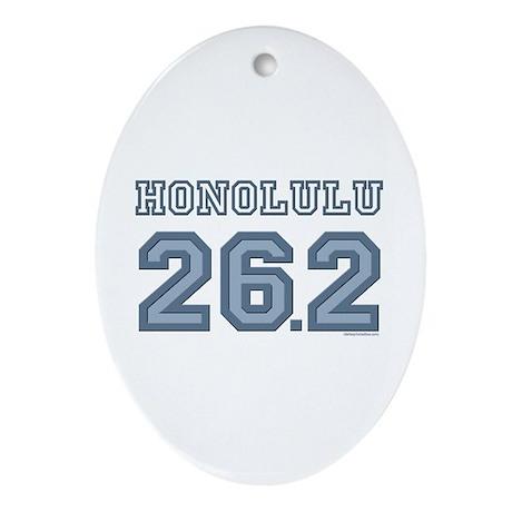 Honolulu 26.2 Marathoner Oval Ornament