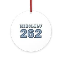 Honolulu 26.2 Marathoner Ornament (Round)