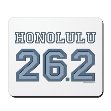 Honolulu 26.2 Marathoner Mousepad