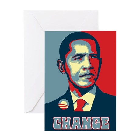 Barack Obama Change Greeting Card