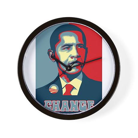 Barack Obama Change Wall Clock