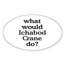 Ichabod Crane Oval Decal