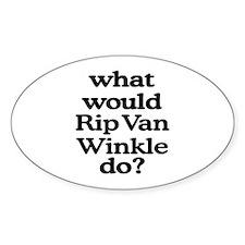 Rip Van Winkle Oval Decal