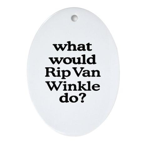 Rip Van Winkle Oval Ornament