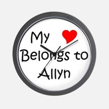 My heart belongs to a nurse Wall Clock