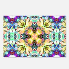 Four Flower Kaleidoscope Postcards (Package of 8)