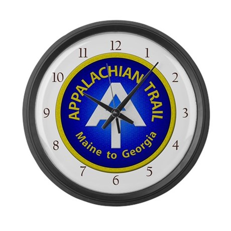 Appalachian Trail Patch Large Wall Clock