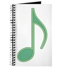 Green Neon Eighth Note Journal