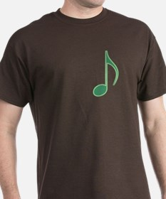 Green Neon Eighth Note T-Shirt