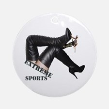 Extreme Sports - Boot Climbing Ornament (Round)