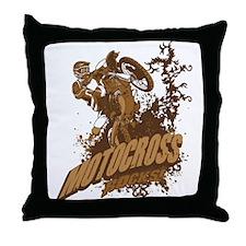 Motocross Rocks Throw Pillow
