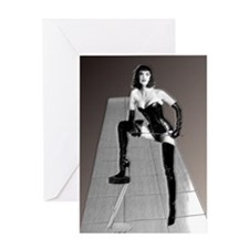 3D Dominatrix Greeting Card