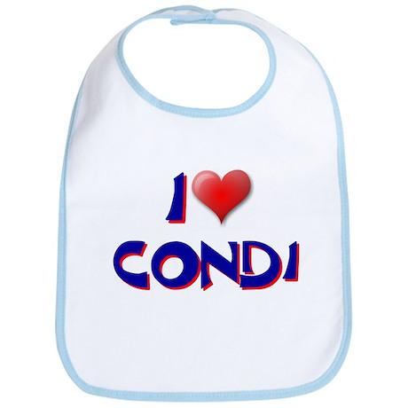 I LOVE CONDI CONDOLEEZA RICE Bib