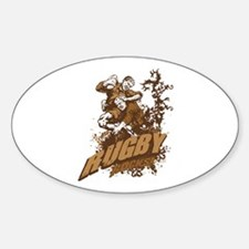 Rugby Rocks Oval Decal