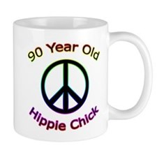 Hippie Chick 90th Birthday Mug