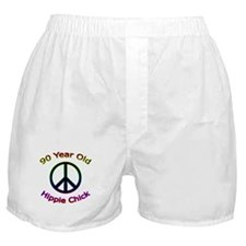 Hippie Chick 90th Birthday Boxer Shorts