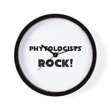 Phytologists ROCK Wall Clock