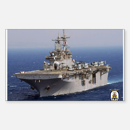 USS Wasp LHD 1 Rectangle Decal