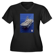 USS Essex LHD-2 Women's Plus Size V-Neck Dark T-Sh