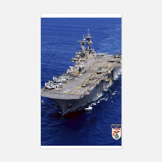 USS Essex LHD-2 Rectangle Decal