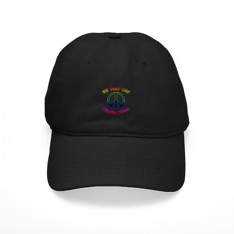 Hippie Chick 85th Birthday Black Cap