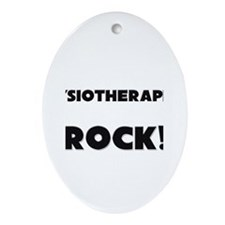 Physiotherapists ROCK Oval Ornament