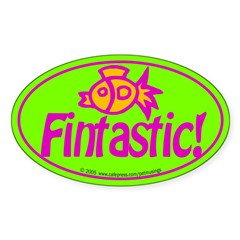 Fintastic! Oval Sticker