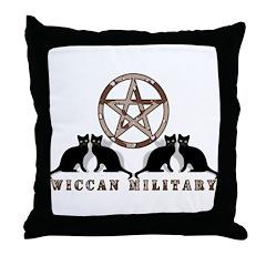 Camo Military Pentagram Throw Pillow