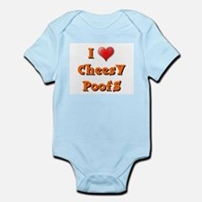I LOVE CHEESY POOFS Infant Creeper