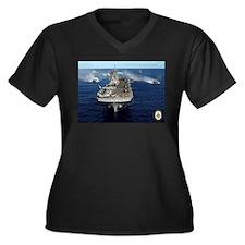 USS Kearsarge LHD-3 Women's Plus Size V-Neck Dark