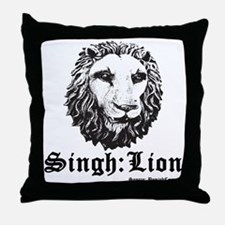 Singh is a Lion Throw Pillow