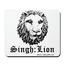 Singh is a Lion Mousepad