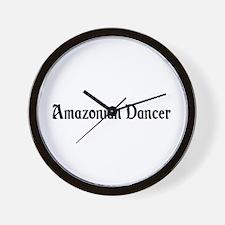 Amazonian Dancer Wall Clock