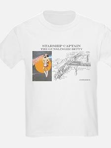 Starship Captain: Gunslinger  Kids T-Shirt
