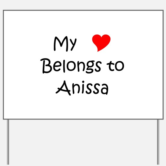 Anissa Yard Sign