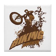 Biking Rocks Tile Coaster