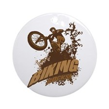 Biking Rocks Ornament (Round)