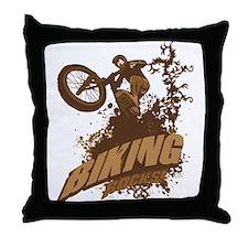 Biking Rocks Throw Pillow