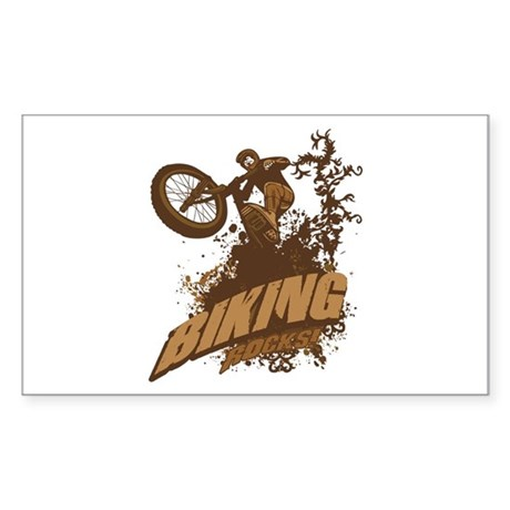 Biking Rocks Rectangle Sticker