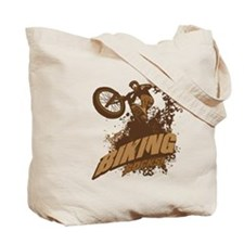 Biking Rocks Tote Bag